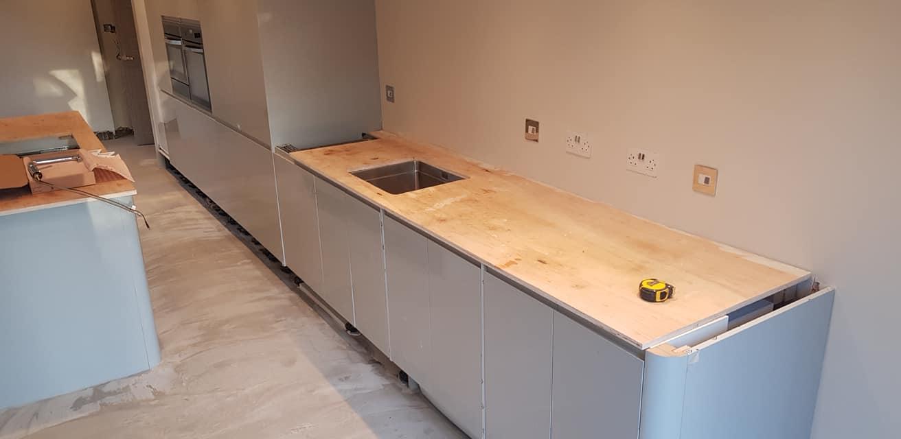 Zenith Compact Laminate Kitchen Worktop Installation In
